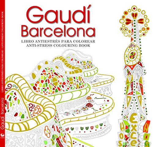 GAUDÍ BARCELONA: LIBRO ANTIESTRÉS PARA COLOREAR r- segunda mano  Se entrega en toda España