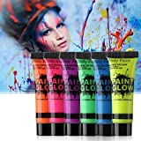Party Propz 2pcs Neon Face & Body Paint Glow in The Dark / Glow Paint for Party / Body Face Paint