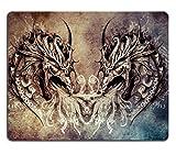 Die besten Liili Schreibtische - Mousepads Tattoo Art Fantasy Mittelalter Drachen Herz Bild-ID Bewertungen