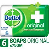 Dettol Bathing Soap Original, 75gm, Pack of 6