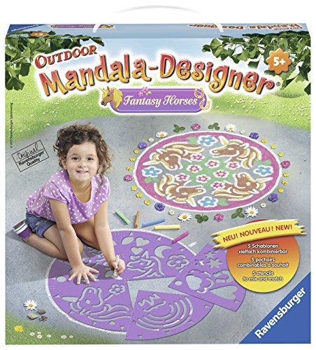 Ravensburger 29815 - Fantasy Horses Mandala Designer Outdoor