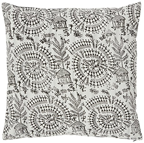 the-indian-promenade-16-x-16-inch-blended-cotton-warli-print-pastel-cushion-cover-black-beige
