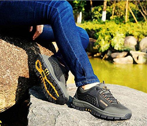 Z&HX sportsChaussures de sport en plein air Chaussures nettes respirantes Chaussures de marche antid¨¦rapantes Chaussures de randonn¨¦e pour loisir Yellow