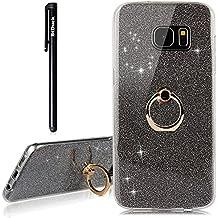 Glitzer Wei/ß Papier Hybrid 2 in 1 Design Bling Schutzh/ülle mit Ring St/änder f/ür Samsung Galaxy S7 Edge Misstars H/ülle f/ür Galaxy S7 Edge Ultra D/ünn Transparent Weiche TPU Silikon