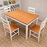 Best Dining Table Sets - LIFE CARVER Solid Pine Dining Table and Chairs Review