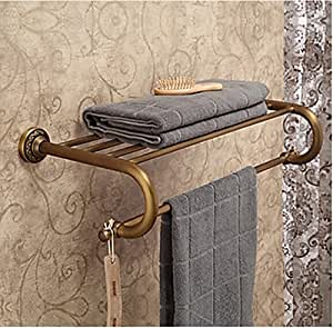 rozinsanitary simple vintage antique en laiton porte serviette de bains avec porte serviettes. Black Bedroom Furniture Sets. Home Design Ideas