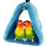 Bello Luna Loro Azul Nido de pájaro Mascota Nido de Invierno cálido Hamaca Colgante Cueva Jaula de Felpa Happy Hut Tienda de