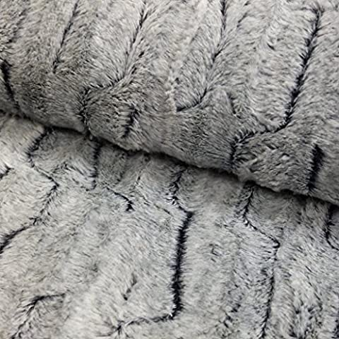 Tejido pelo sintético Fantasía 2tonos gris–por 50cm