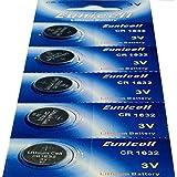 5 x CR1632 Lithium Knopfzelle 120 mAh ( 1 Blistercard a 5 Batterien ) Markenware --- Eunicell ---
