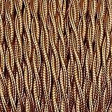 Elektrokabel, 2 x oder 3 x 10 m, geflochten, Farbe Bronze - 3 x 0,75 mm