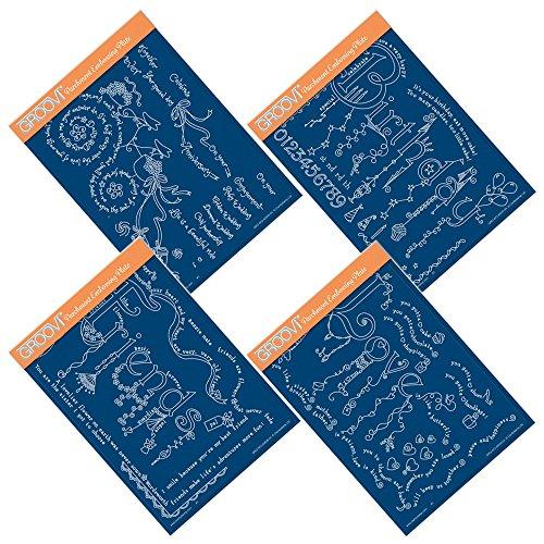 Dangles qurtet a5groovi pergamena piastra set