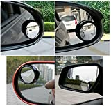 #8: amiciKart® Original iPop Flexible Car Blind Spot Wide Angle Convex Side Rear View Mirror