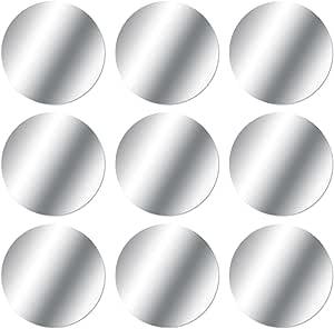 Mosuo 9 Stück Metallplatte Metallplättchen Selbstklebend Set 9 Runde