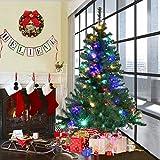 COSTWAY Weihnachtsbaum Künstlicher Tannenbaum mit LED-Lichterketten Christbaum beleuchtet 120/150/180/210/240/270cm Grün (150CM)