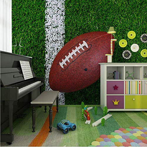 Kinderzimmer Wand Papier Kinder Schlafzimmer 3D Rugby Fototapete Wandbild Vinyl Seidentapete Haushalt Wandbild Sshssh-400x300CM - 400 Rugby