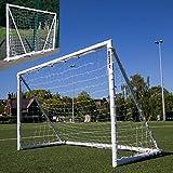 QUICKPLAY Q-Fold | Das faltbare, innerhalb von 30 Sekunden aufstellbare Fußballtor für den Garten [Einzeltor] Das beste wetterfeste Fußballnetz für Kinder und Erwachsene - 2 JAHRE GARANTIE - NEU IN 2018