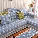 MEILI Dicker Stoff Sofa-Kissen mit Sprache und Blumen, 90 * 240