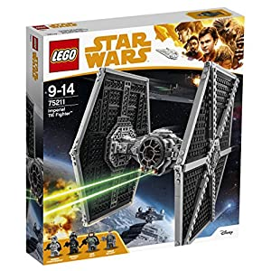 LEGO 75211 Star Wars Imperial TIE Fighter Building Set, Minifigures inc. Han Solo and Stormtrooper, Starfighter Toy