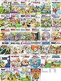 Top erhaltene Asterix Sammlung Serie: Asterix Band 1-34, enthält Asterix Nr. 1, 2, 3, 4, 5, 6, 7, 8, 9, 10, 11, 12, 13, 14, 15, 16, 17, 18, 19, 20, 21, 22, 23, 24, 25, 26, 27, 28, 29, 30, 31, 32, 33, 34