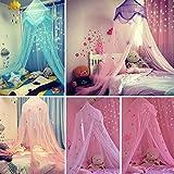 Kids zanzariera Dreamlike camera bambini rotonda Lace Dome letto letto a baldacchino tenda zanzariera con stelle e farfalle, tende Baby ragazzi e ragazze giochi casa