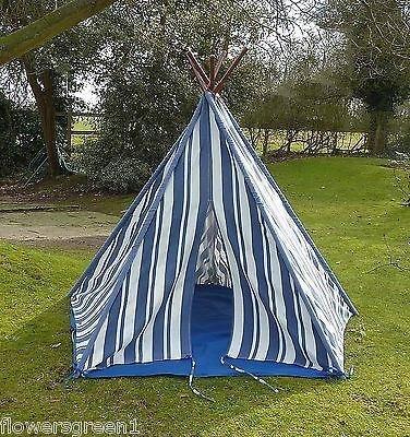 wigwam-teepee-play-tent-canvas-blue-stripes