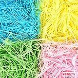 11,2oz (320 g) Papel en Tiras Hierba de Pascua Relleno de Cesta de Regalo para Accesorios de Manualidades Fiesta, 4 Colores