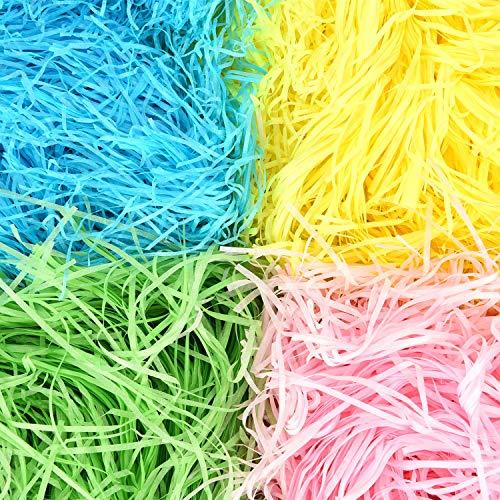 rn Gras Geschreddert Papier Geschenk Korb Füllstoff für Party Kunsthandwerk Zubehör, 4 Farben ()