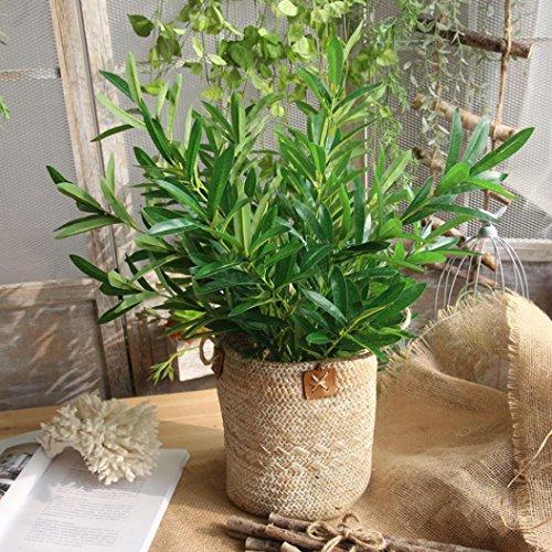 Xshuai Künstliche Pflanzen gefälschte Blätter, Xshuai Laub Gras Bush Hochzeit Bridal Party Girlanden Bouquet Decor Home Kunst Garten Blume Dekoration (Grün) -