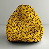 "Orka Disney ""Winnie The Pooh"" Digital Printed Bean Bag Small Filled With Beans - Yellow & Black"