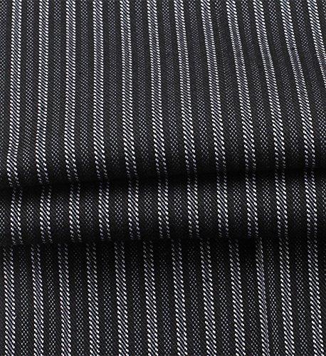 WAIWAIZUI Herren Kochhose Gummizug Streifen Schwarz L/(Herstellergröße:3XL) - 6