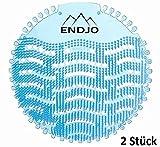 ENDJO Urinalsieb (2pcs.) Spritzschutz mit Duft nach Meeresbrise, Kalenderfunktion, passend für jede Urinal und Pissoir, blau