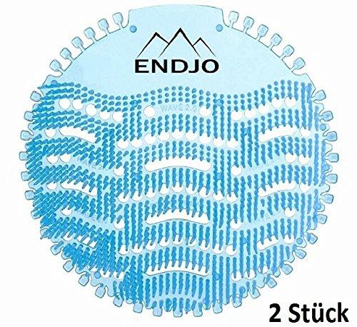 Duft, Antibakteriell (ENDJO Urinalsieb (2pcs.) Spritzschutz mit Duft nach Meeresbrise, Kalenderfunktion, passend für jede Urinal und Pissoir, blau)