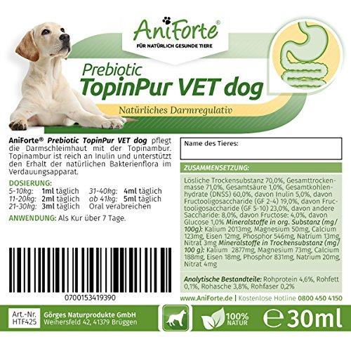 AniForte Prebiotic TopinPur Natürliches Darmregulativ 30 ml – Naturprodukt für Hunde