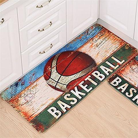 Quibine Motif Basketball Paillassons Tapis Décor Intérieur Maison Chambre Salle Salon, 50*120CM