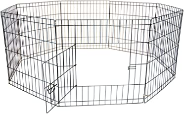 "Iconic Pet Octagon Eight Panel Portable (Foldable) Pet Wire Pen, 24"" Height"