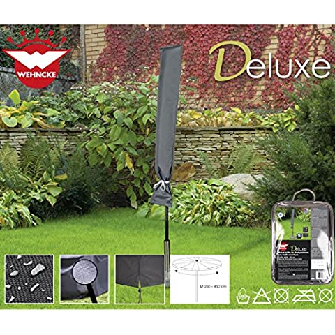 Deluxe Schutzhülle für Sonnenschirm, ø250-450 cm Polyester Oxford 420D - Party Schirm Gartenschirm Schutz Hülle Abdeckung Tragetasche Plane (Gartenschirm Abdeckung)