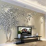 3D Enorme Paar Boom DIY muur Stickers Kristal Acryl Muursticker Muurschilderingen Voor Woonkamer Slaapkamer TV Achtergrond Home Decoratie