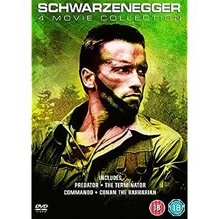 Arnold Schwarzenegger 4 Movie Collection: Predator, The Terminator, Commando & Conan The Barbarian [DVD] [2017]