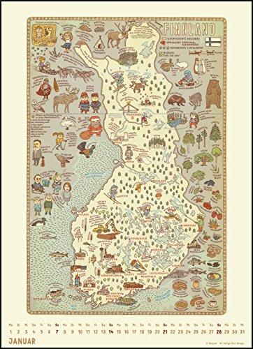 Alle Welt 2018 – Landkarten-Kalender von DUMONT– Kinder-Kalender – Poster-Format 49,5 x 68,5 cm: Alle Infos bei Amazon