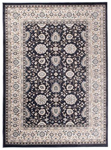 """Grande Tapis d'Orient - ANTHRACITE NOIR - Motif Persan Traditionnel et Oriental - Tapis de Salon Ultra Doux - """" AYLA """" - 250_x_350_cm"""