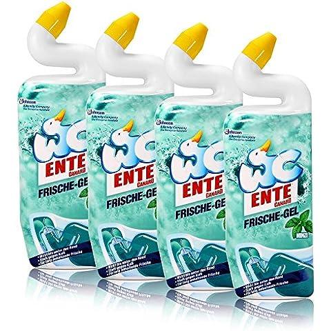 4 x WC pato gel fresco baño limpiador menta 750 ml