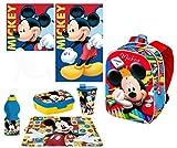 Mickey Mouse Topolino in 3D zainetto Zaino,set Asciugamani ,Porta Merenda Scuola Asilo Tempo Libero