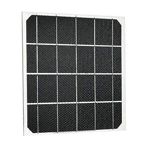 Hylotele DIY Solarplatten Klein Solarmodule 5W 2V ETFT Wabenoberfläche 25 Prozent Umwandlungsrate für Auto RV Heimgebrauch
