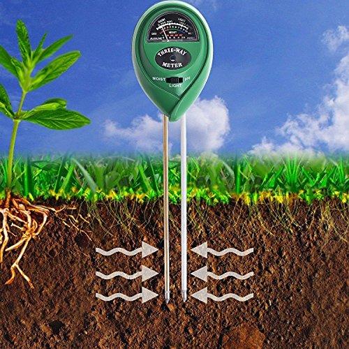 Von Boden Ph-tests (Boden PH-Messgerät,-in Boden Test Kit für Feuchtigkeit, Licht & ph, für Haus und Garten, Rasen, Farm, Pflanzen, Kräutern und Gartengeräte,, Innen/Außen Pflege Erde Tester)