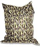 Patchhome Sitzsack und Sitzkissen Camouflage Eckig - Khaki - 180x145cm in 5 Farben und 7 versch. Größen