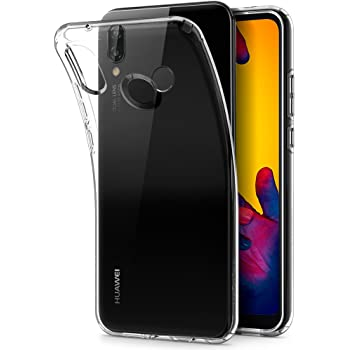 Spigen [Liquid Crystal] Case for Huawei P20 LITE, Ultra Transparent Flexible TPU Slim Protection Air Cushion Technology Phone Cover for Huawei P20 Lite Case - Crystal Clear - L22CS23072
