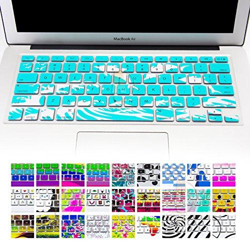 allytech Keyboard Cover Silikon Skin für MacBook Pro 33cm 38,1cm 43,2cm (mit oder w/out Retina Display) iMac und MacBook Air 33cm (Kleine Blumen) Dolphin With Ocean's story