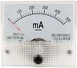 85C1-A DC 0-500mA Analog Panel Meter Amperemeter w Installieren Parts
