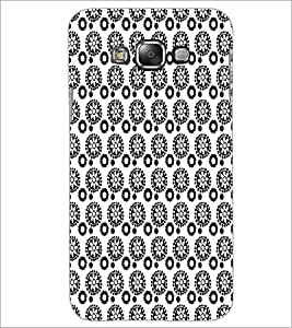 PrintDhaba Pattern D-5927 Back Case Cover for SAMSUNG GALAXY E7 (Multi-Coloured)
