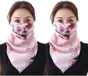 MORETIME Accessory Soft Half Face Staubschutz Schlauchschal Rundschal Schal Halstuch Multifunktionstuch Kopftuch Schlauchschal Cooles Design in Trendfarben f/ür Damen und Herren